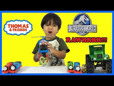 Thumbnail: Dinosaur Toys for kids Jurassic World Unboxing Playtime Thomas and Friends Ryan ToysReview