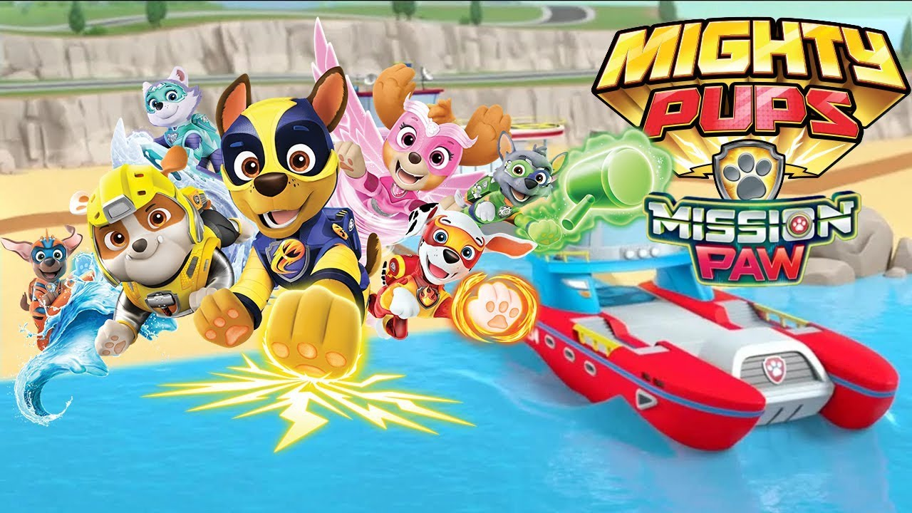 Paw Patrol On A Roll Mighty Pups