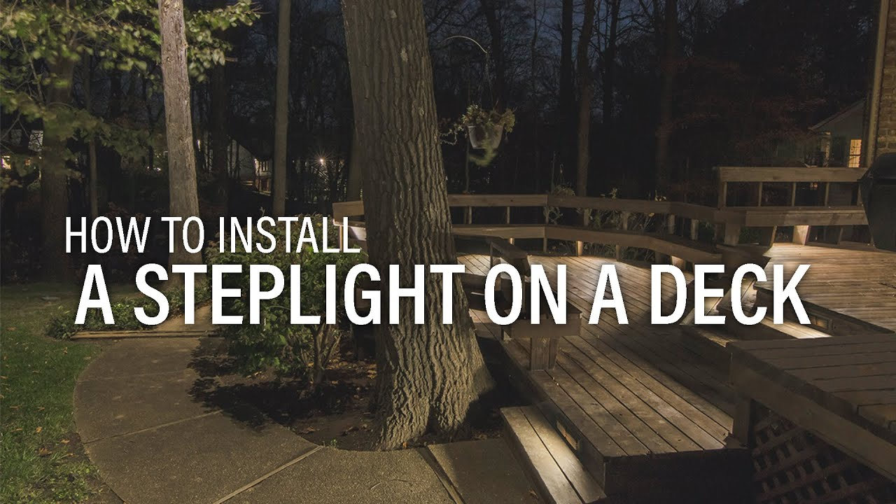 VOLT® University | How to install the Brass Bunker step light. - YouTube & VOLT® University | How to install the Brass Bunker step light ... azcodes.com