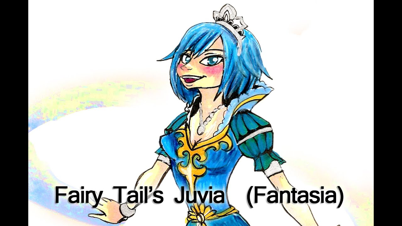 Fairy tail juvia fantasia artwork speed paint colour youtube - Fairy tail fantasia ...