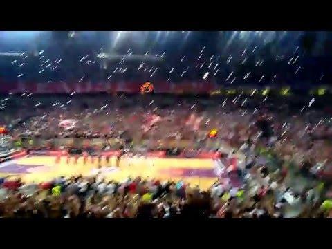Nadglašavanje himne Evrolige!! | Crvena Zvezda Telekom - CSKA Moscow