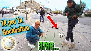 1€ pro FUSSBALL Hochhalten!! **Jerome Boateng machte mich pleite**