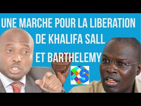 Senevideos senegal :marche pour la libération de khalifa sall et barthélemy Diaz