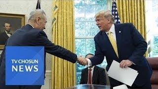 """[속보] - 트럼프 """"미중무역 1단계 합의""""…대중 관세…"""
