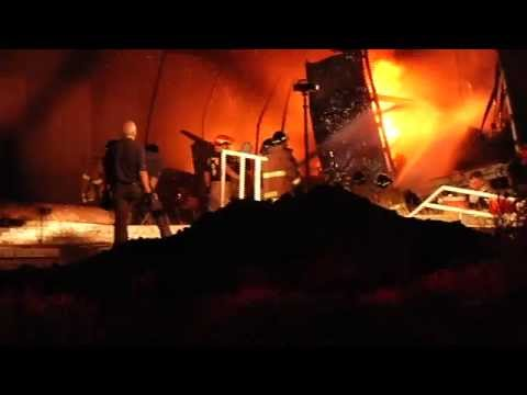 RAW VIDEO: Fire at Tire Recycling Plant in Harlingen