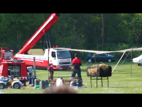 Scott May Stunt Show Human Cannon Ball Accident - Matt Cranch Tragedy in Detling Kent, 25 April 2011