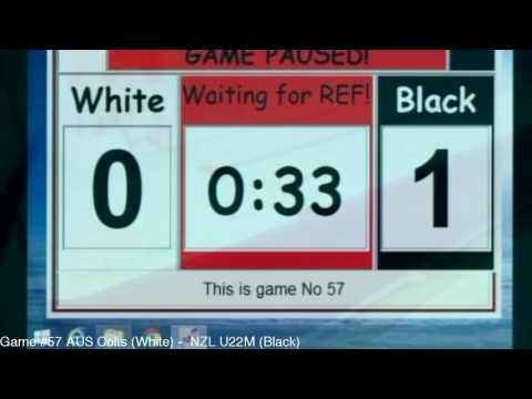 Game #57 AUS Colts(White) -  NZL U22M (Black)
