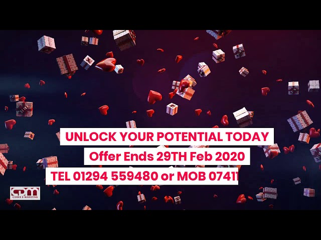 Corrie D Marketing  Valentines Offer Promotional Marketing Video Offer Ends 15th Feb 2020.