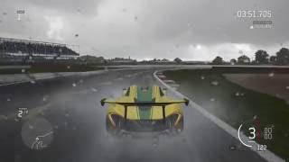 Forza 6 Rain Race McLaren P1 GTR Hot Wheels Car Pack @ Silverstone Racing Circuit,Xbox One
