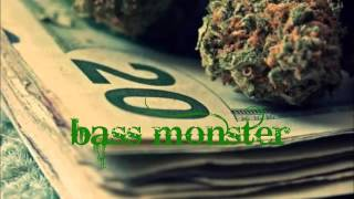 weed rap beat bass boosted by bass moster 2016