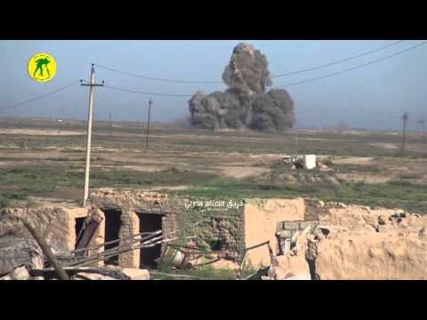 Iraqi Popular Mobilization Units stop ISIS suicide truck with Kornet ATGM