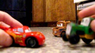 Lightning and Mater Cars Tractor Tipping Video