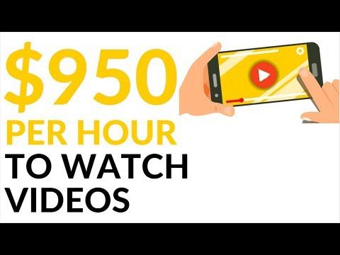 Earn $950 in 1 Hour WATCHING VIDEOS! (Make Money Online)