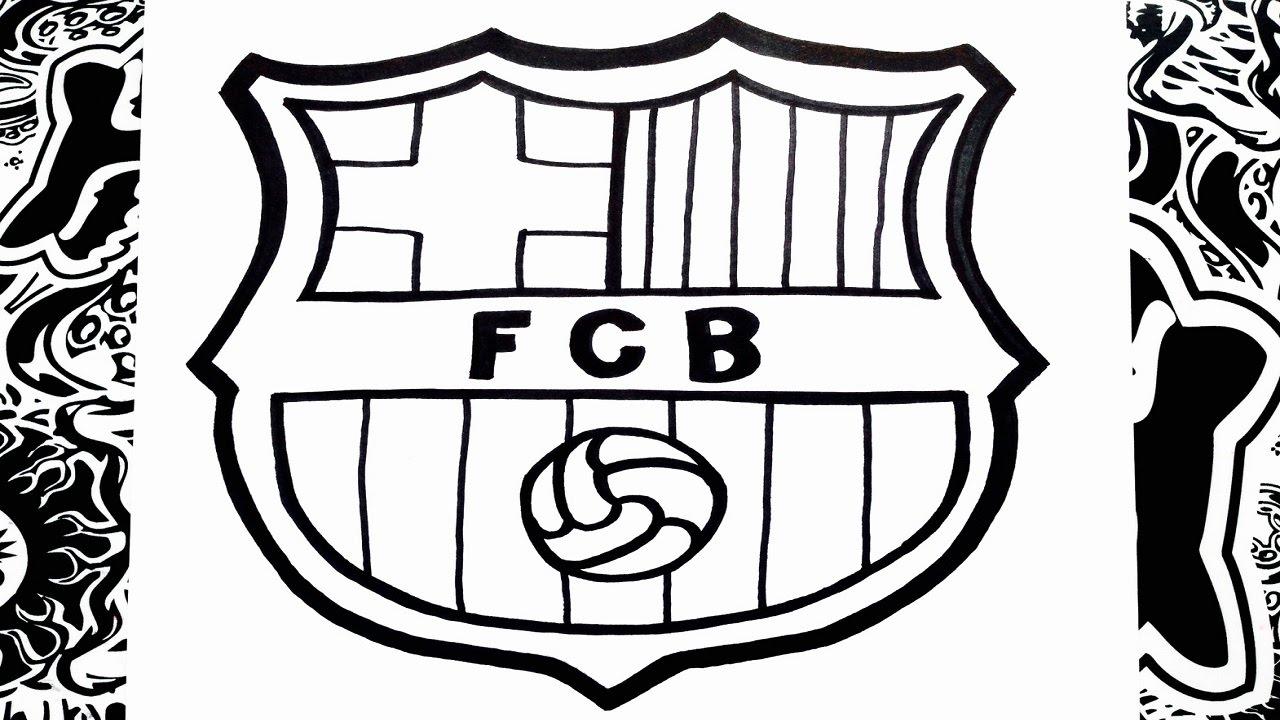 Como dibujar el escudo del Barcelona  how to draw barcelona logo