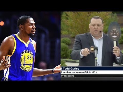 "Kevin Durant BLASTS ""Bum Ass"" ESPN for Get Out-Style Fantasy Football Slave Auction"