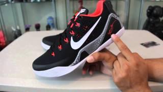 "Nike - Kobe 9 IX EM - Black/White-Lsr Crmsn-Wlf Gry "" Crimson "" Review #Sneaks4Geeks"