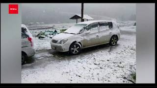 Июньский снег повалил в Ергаках и Хакасии