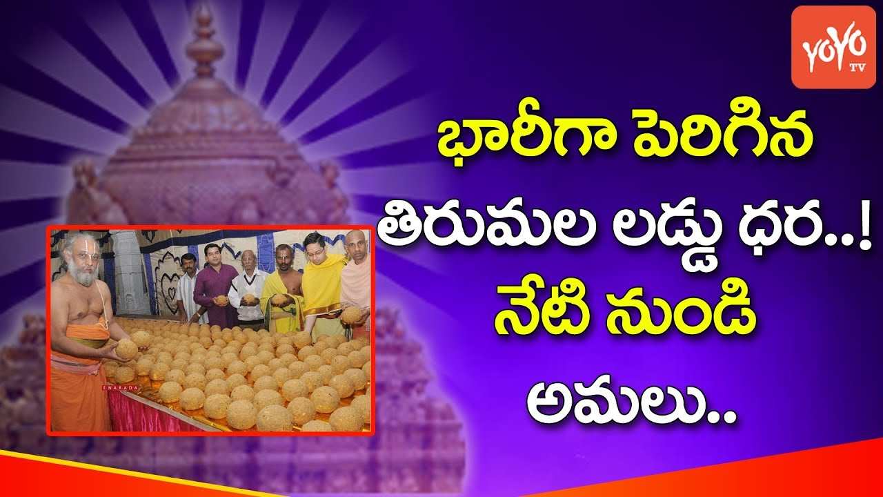 Tirumala Tirupati Devasthanam (TTD) Hikes Price of Extra Laddus | YOYO TV  Channel