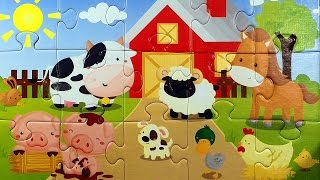 Farm and Africa animals jigsaw puzzle 4K Old MacDonald zwierzęta animales ゆかいな牧場