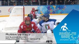 Russia vs Italy highlights | Ice sledge hockey | Sochi 2014 Paralympic Winter Games