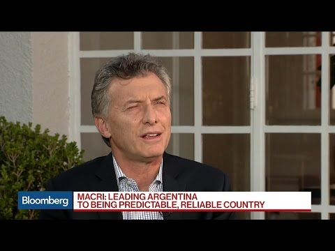 Argentina's Mauricio Macri on Growth, Inflation, Trump