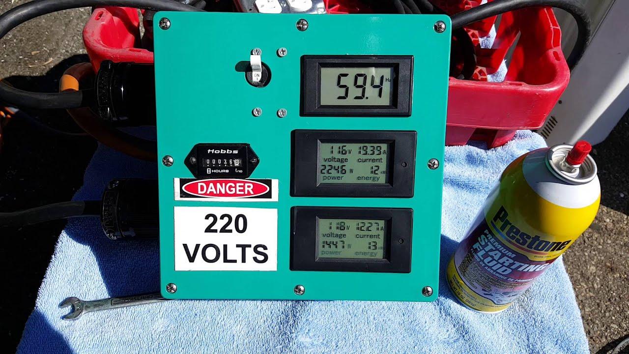Onan 6 5NH/T260G - First startup on gasoline after a rebuild  by jj jj