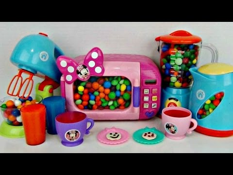 Just Like Home Toy Set : Minnie mouse just like home kitche appliance deluxe set youtube
