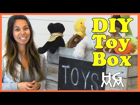 DIY Wooden Toy Box Build Project with Ana White