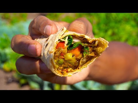 Delicious INDIAN FOOD COOKING in a Farm | Best VEGETARIAN FOOD Making