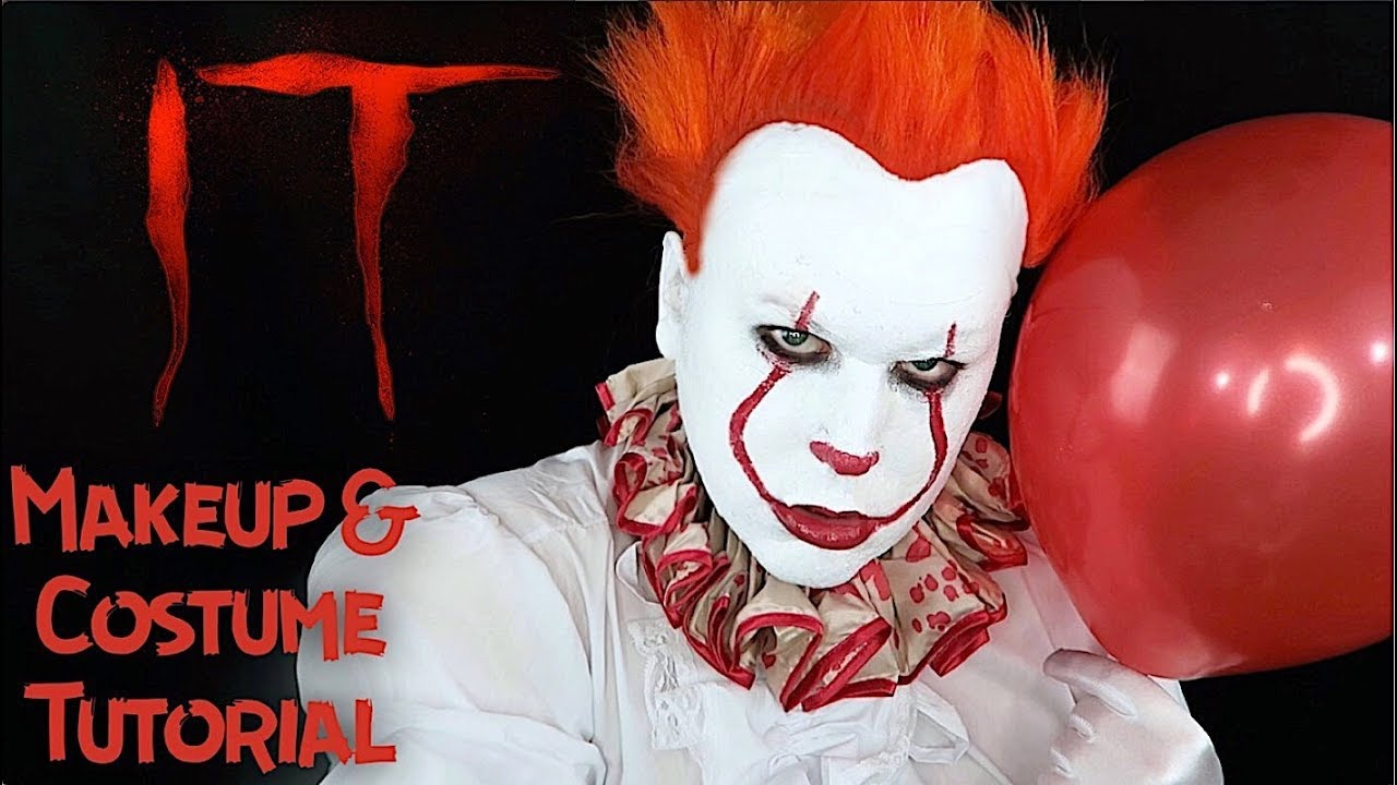 it pennywise 2017 clown makeup halloween costume tutorial diy jonathan eiter