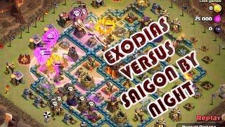 Clash of clans clan wars Exodias vs Saigon By Night - 18 3-star battles on max th10s
