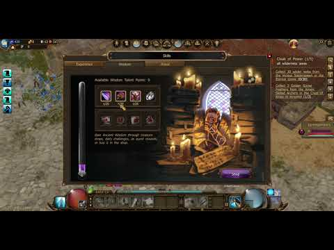 Drakensang online training part 2 gems  daily quest and wisdom books