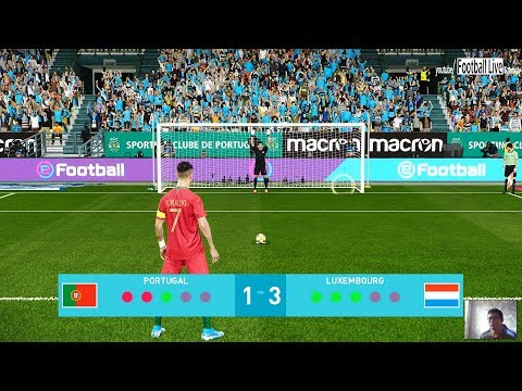 PES 2020 | PORTUGAL vs LUXEMBOURG | Penalty Shootout | EURO 2020 | C.Ronaldo vs Luxembourg