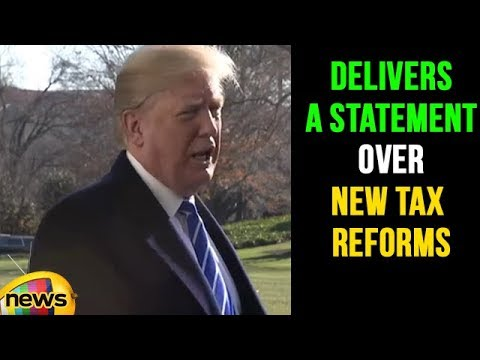 US President Donald Trump Delivers a Statement Over New Tax Reforms  | Mango News