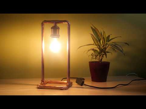Steampunk style copper pipe lamp that I made