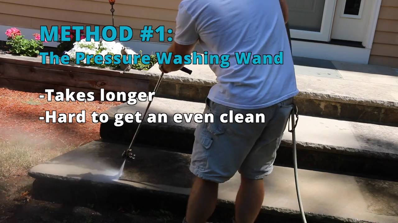 How To Clean Patio Pavers; Surface Cleaner Vs. Pressure Washing Wand