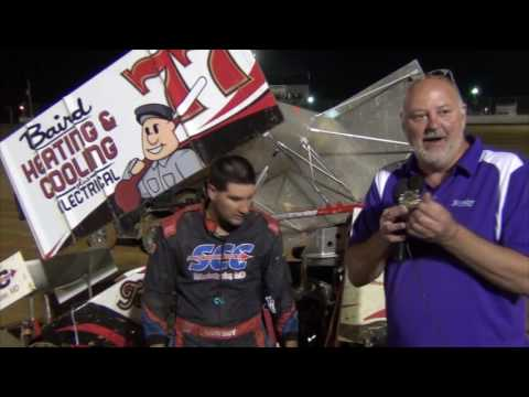 Trail-Way Speedway 358 Sprint Car Victory Lane 6-10-16