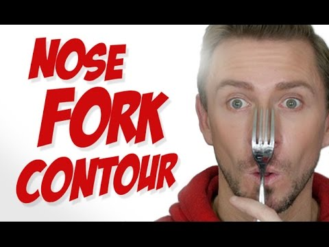 WTF!! HOW TO CONTOUR YOUR NOSE WITH A FORK!