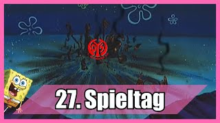 Bundesliga 27. Spieltag portrayed by Spongebob [Deutsch/German]
