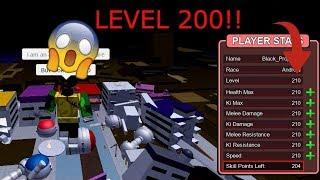 ROBLOX: Dragon Ball Final Stand- LEVEL 200 IN THE FUTURE?!?!