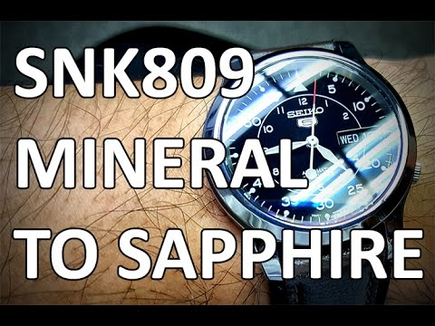 Polished Seiko 5 SNK809 Crystal Swap -  From Mineral to an AR Coated Sapphire