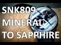 Gambar cover Polished Seiko 5 SNK809 Crystal Swap -  From Mineral to an AR Coated Sapphire