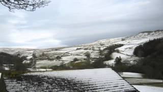 The Yorkshire Dales - A view over the snowy Yorkshire Dales at Christmas