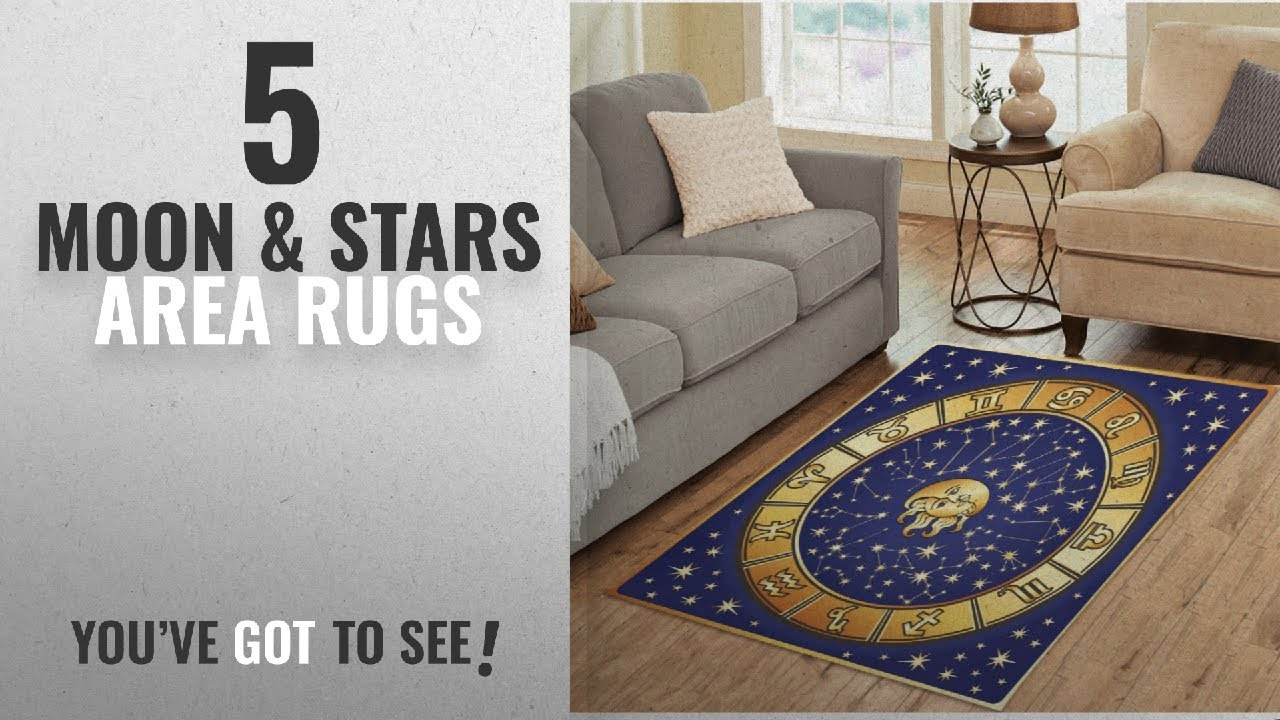 Top 10 Moon Stars Area Rugs 2018 Interestprint Sun Zodiac Astrology Rug Floor