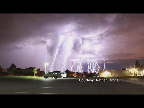 Lightning storm captured on camera