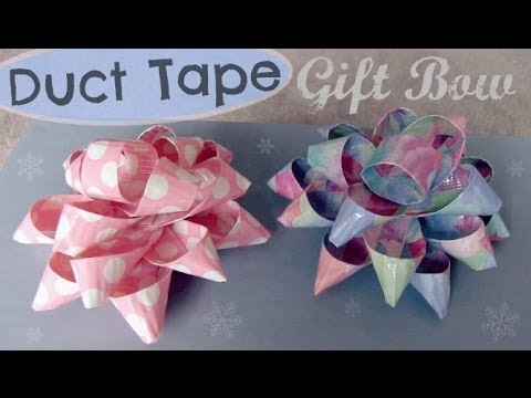 duct-tape-gift-bow---holiday-how-to-|-socraftastic