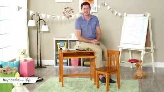 Lipper Computer Desk & Chair - Pecan - Product Review Video