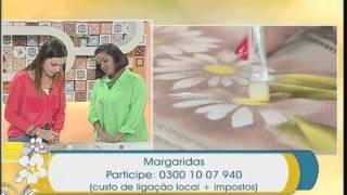 Técnica de pintura em tecido (margaridas)