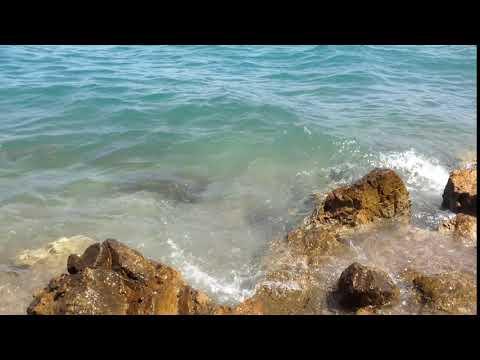 Море, камни, волны, прибой, Full HD бесплатный видео футаж.