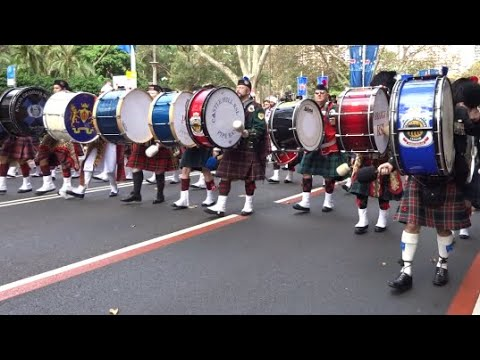 ANZAC DAY 2018 THE MASSED PIPE BANDS